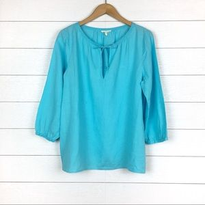 Eileen Fisher Linen Peasant Blouse